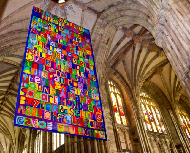 Photo inside Lichfield Cathedral by Mark Zacarria