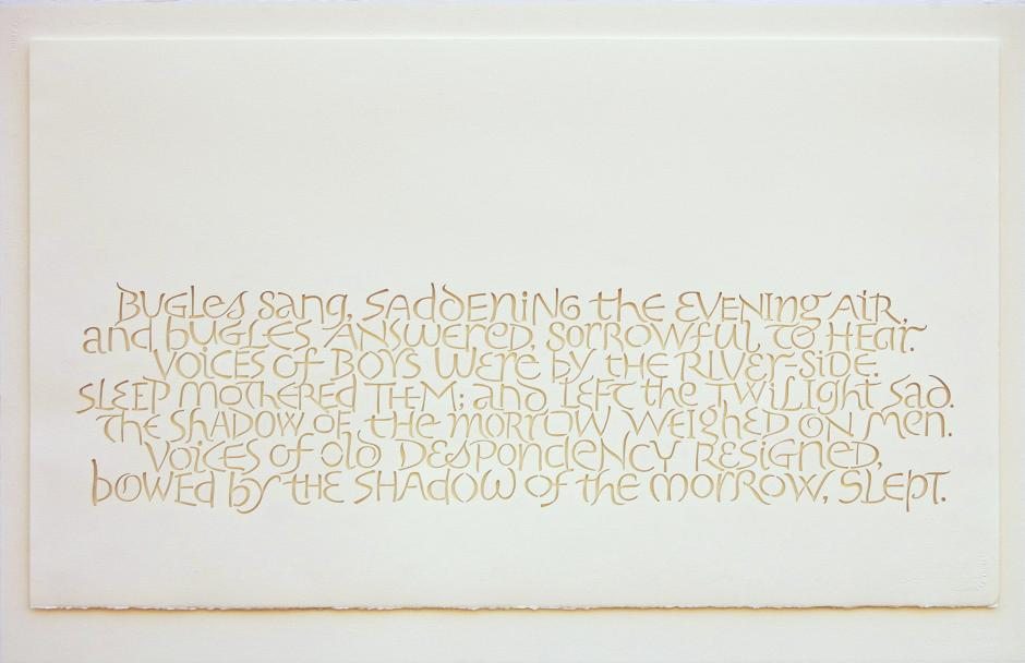 The Shadow of the Morrow, the complete poem 'Voices' by Wilfred Owen